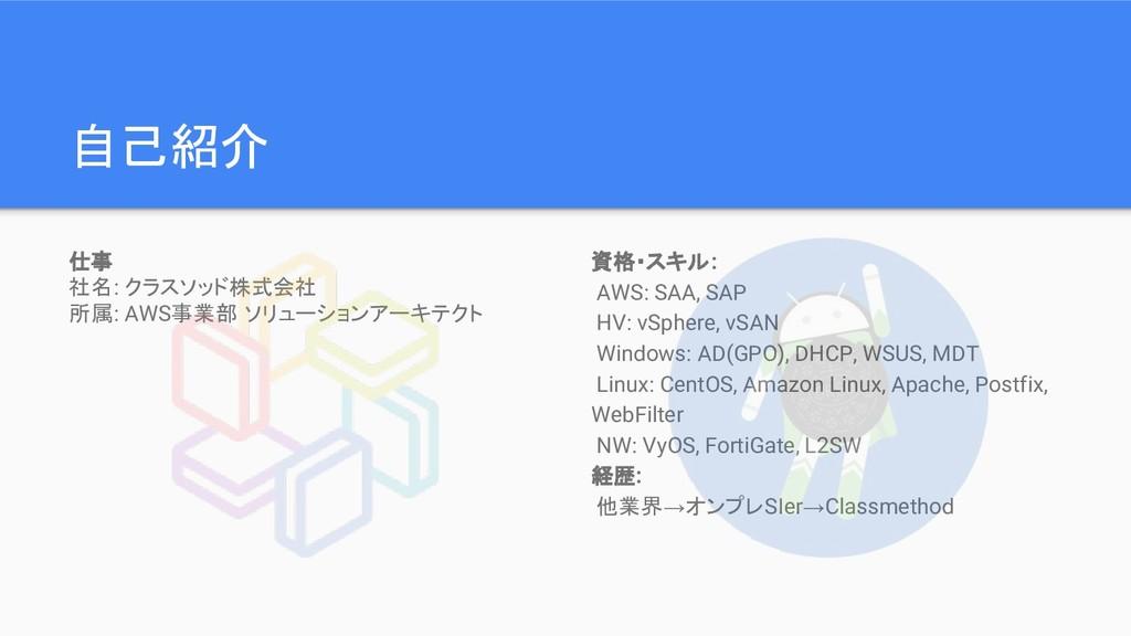 資格・スキル: AWS: SAA, SAP HV: vSphere, vSAN Windows...