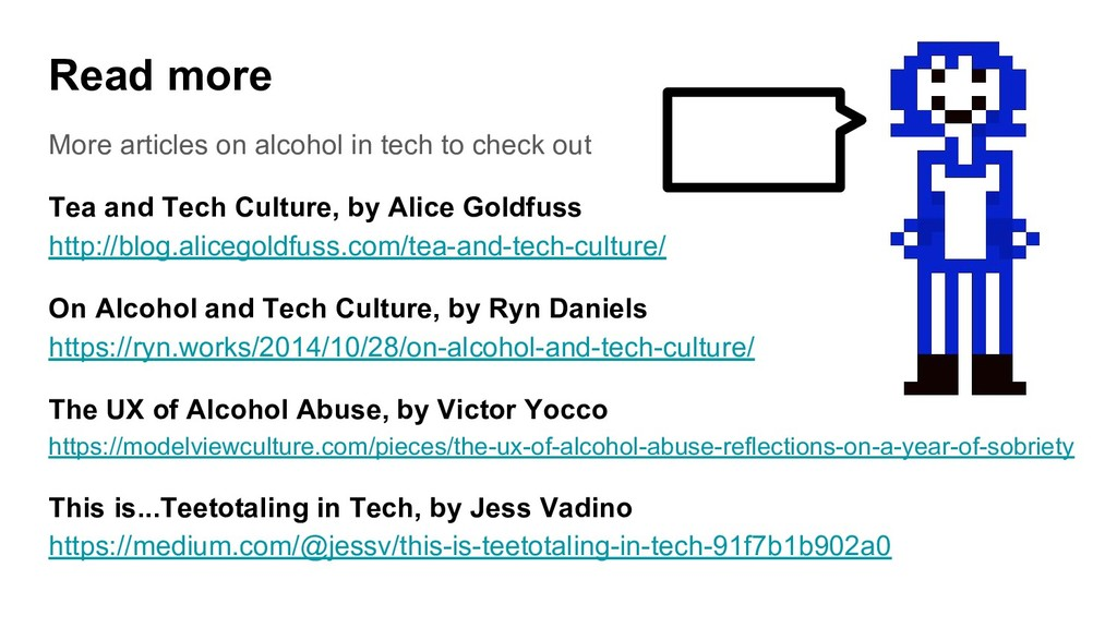 Read more More articles on alcohol in tech to c...