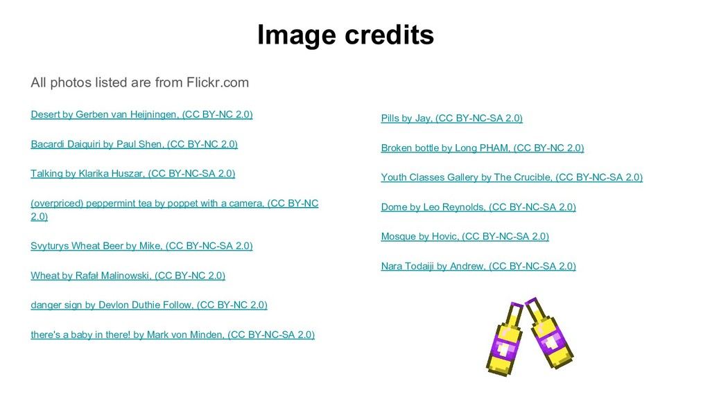 Image credits All photos listed are from Flickr...