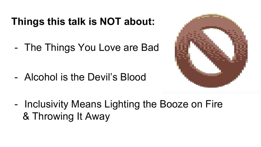 Things this talk is NOT about: - The Things You...