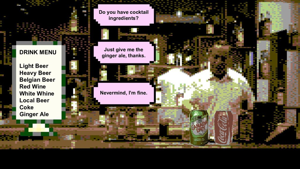 Just give me the ginger ale, thanks. Do you hav...
