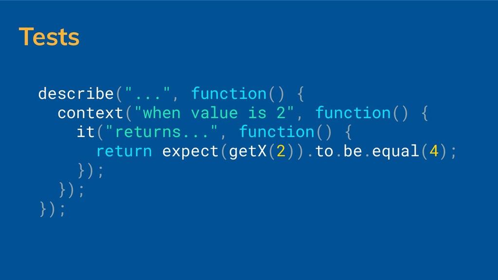 """Tests describe(""""..."""", function() { context(""""whe..."""