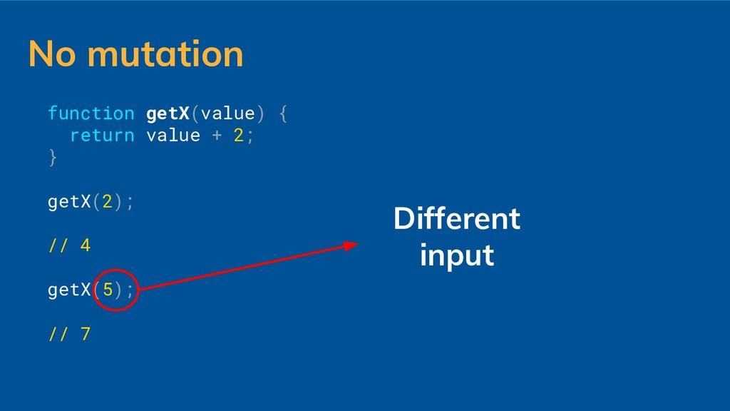function getX(value) { return value + 2; } getX...