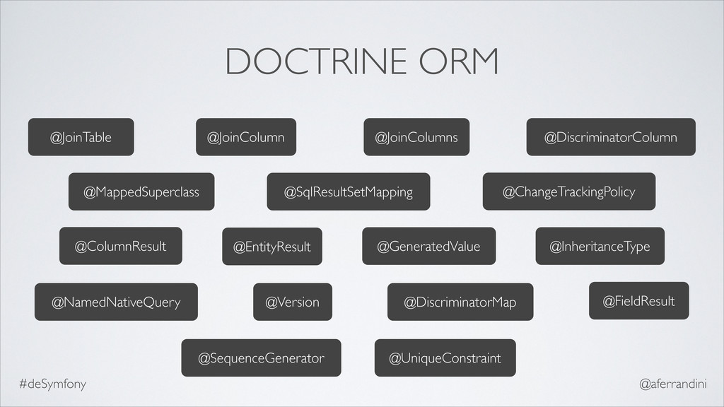 DOCTRINE ORM @ColumnResult @ChangeTrackingPolic...