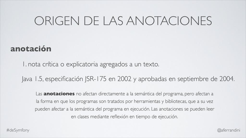 ORIGEN DE LAS ANOTACIONES anotación 1. nota crí...