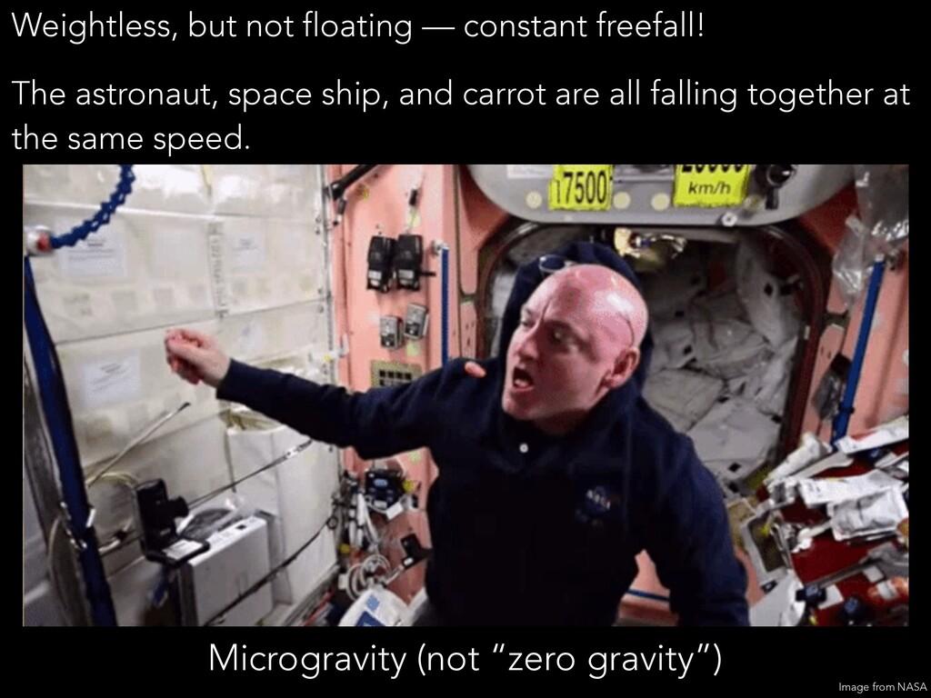 """Microgravity (not """"zero gravity"""") Weightless, b..."""