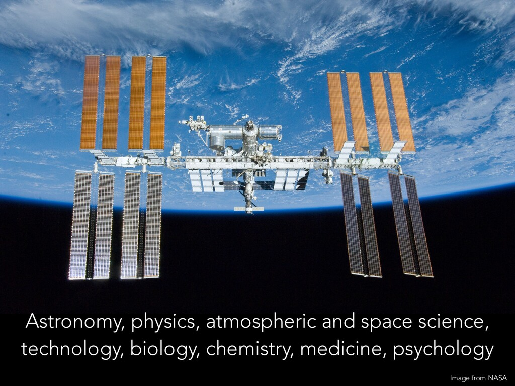 Astronomy, physics, atmospheric and space scien...