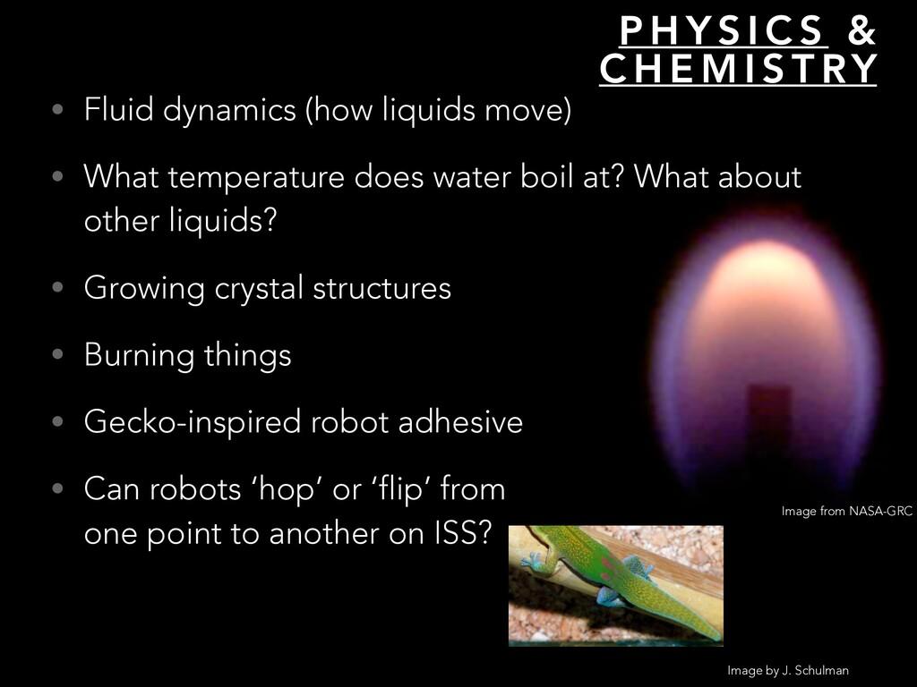 P H Y S I C S & C H E M I S T RY • Fluid dynami...