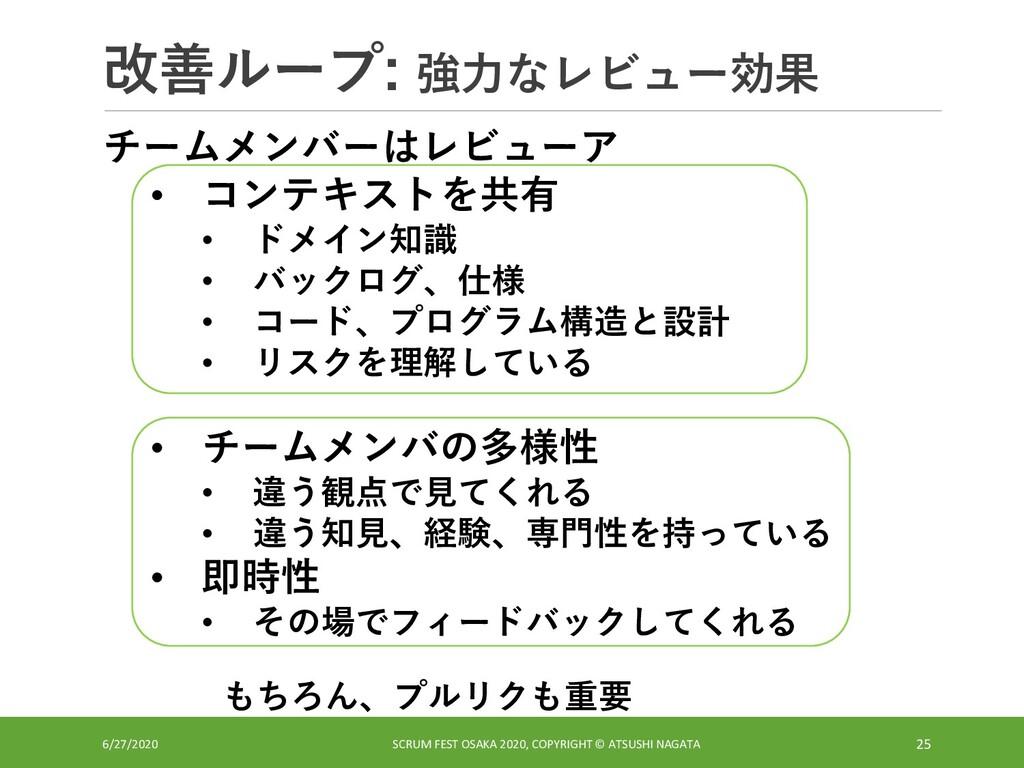 改善ループ: 強力なレビュー効果 6/27/2020 SCRUM FEST OSAKA 202...