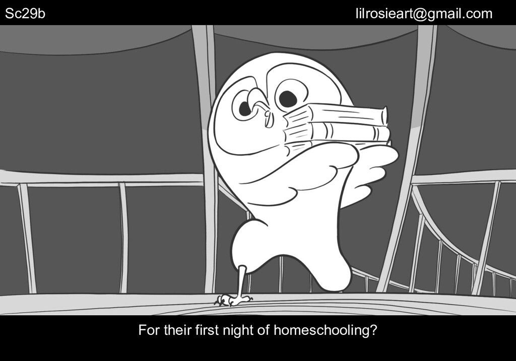 Sc29b For their first night of homeschooling? l...
