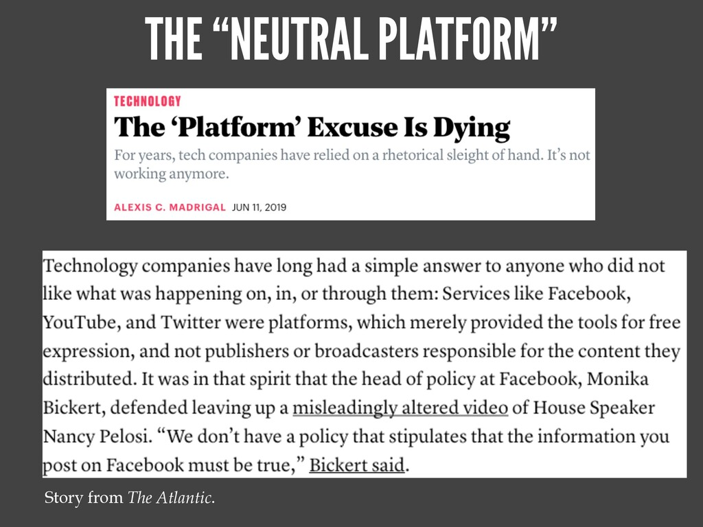 "THE ""NEUTRAL PLATFORM"" Story from The Atlantic."