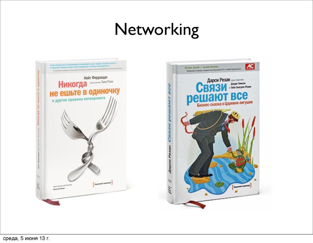 Networking среда, 5 июня 13 г.