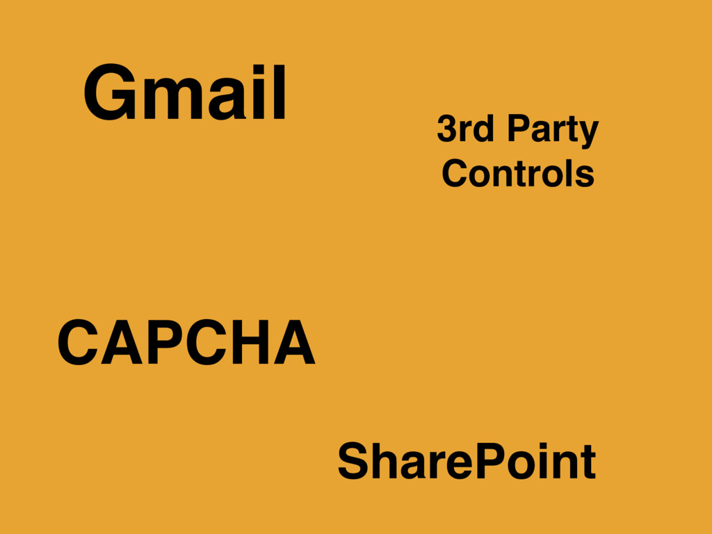 Gmail 3rd Party Controls CAPCHA SharePoint
