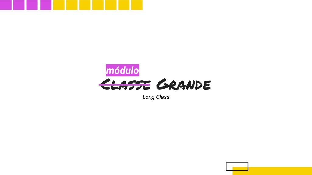 Classe Grande Long Class módulo