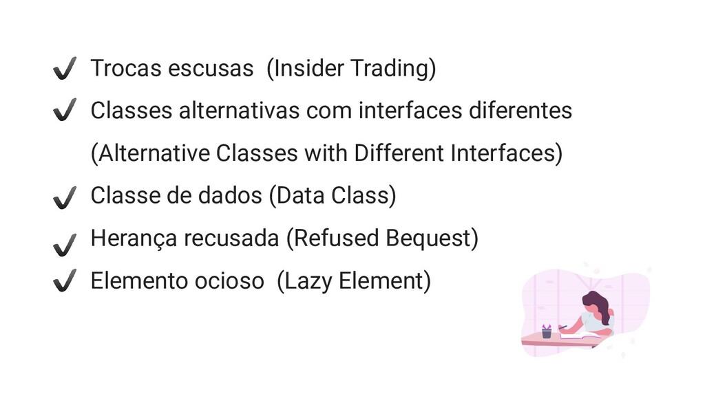 Trocas escusas (Insider Trading) Classes altern...