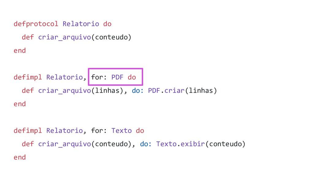 defprotocol Relatorio do def criar_arquivo(cont...