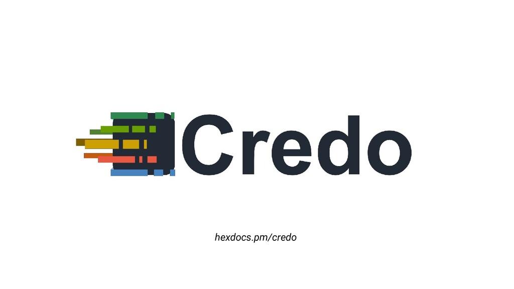 hexdocs.pm/credo