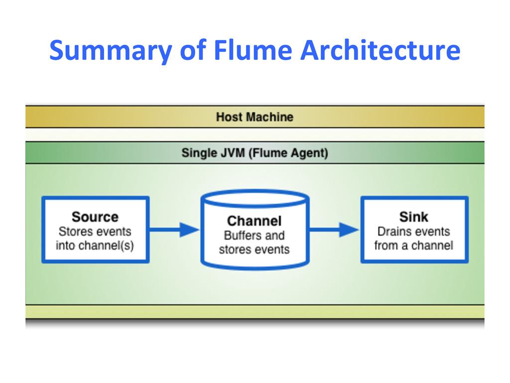 Summary of Flume Architecture