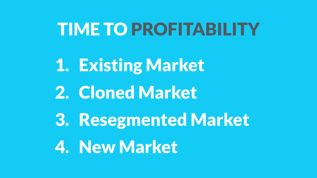 1. Existing Market 2. Cloned Market 3. Resegmen...