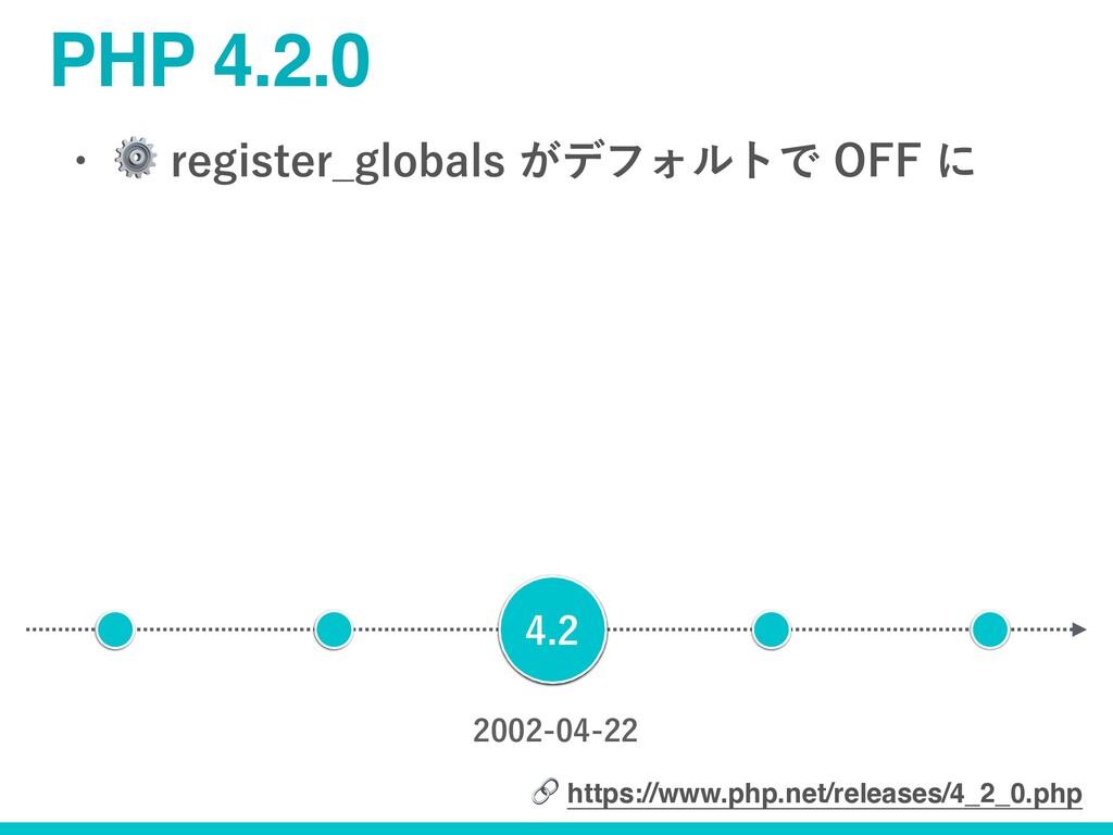 PHP 4.2.0 w ⚙SFHJTUFS...