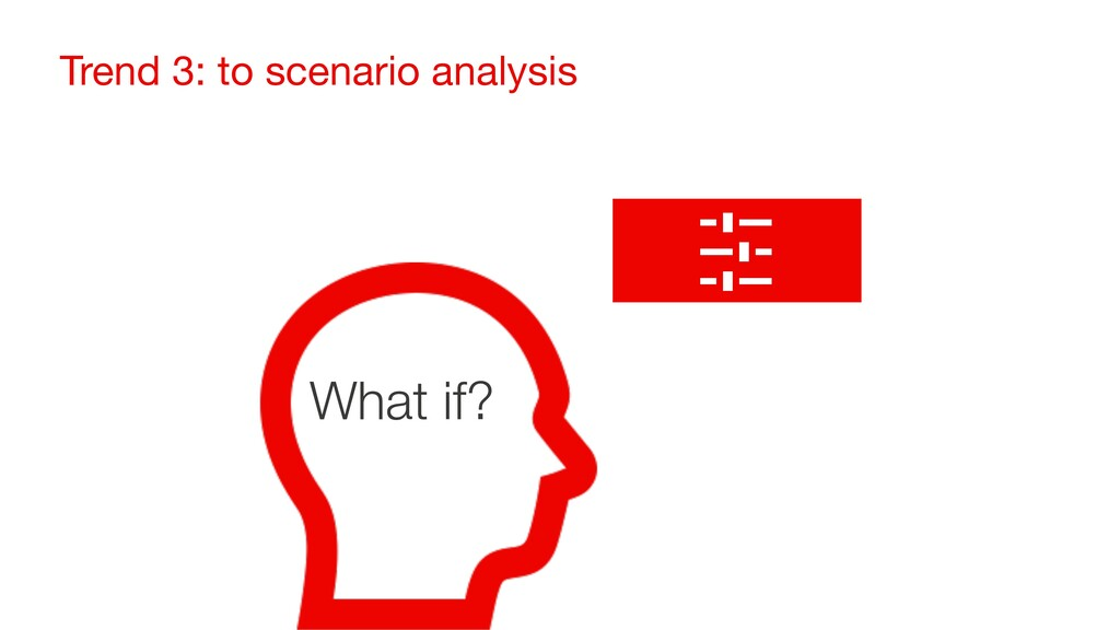 Trend 3: to scenario analysis What if?