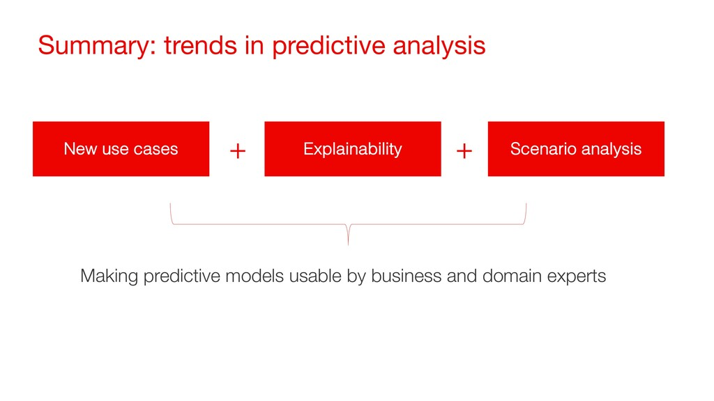 Summary: trends in predictive analysis New use ...