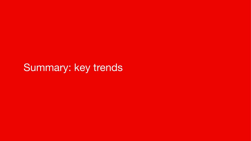 Summary: key trends