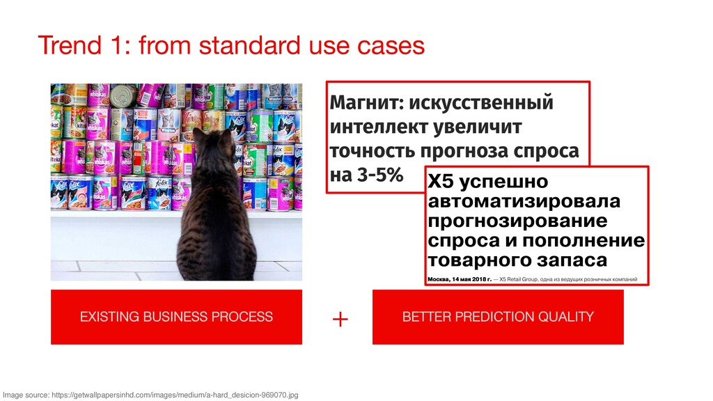 Trend 1: from standard use cases EXISTING BUSIN...