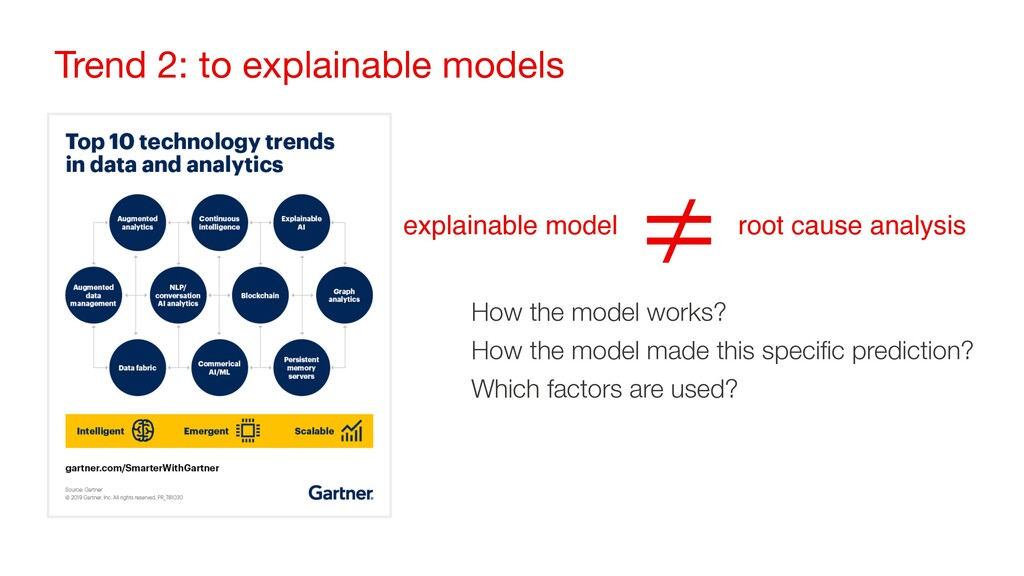 Trend 2: to explainable models root cause analy...