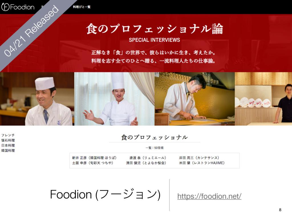 Foodion (ϑʔδϣϯ) https://foodion.net/ 04/21 Rele...