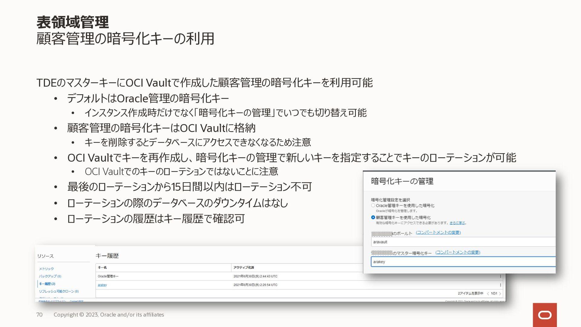 Autonomous Database 共有職責モデル(マニュアル抜粋) Copyright ...