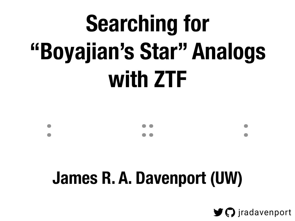 """Searching for  """"Boyajian's Star"""" Analogs with ..."""