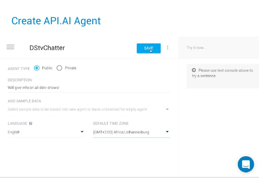 Create API.AI Agent