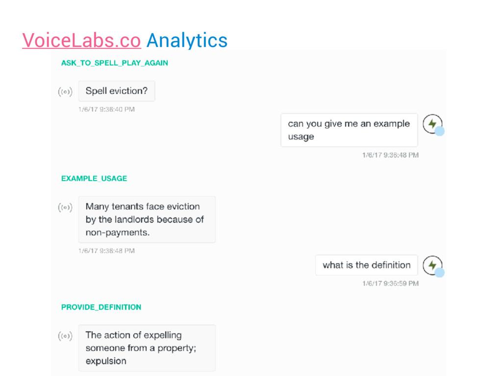 VoiceLabs.co Analytics