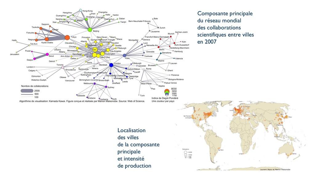 Composante principale du réseau mondial des col...