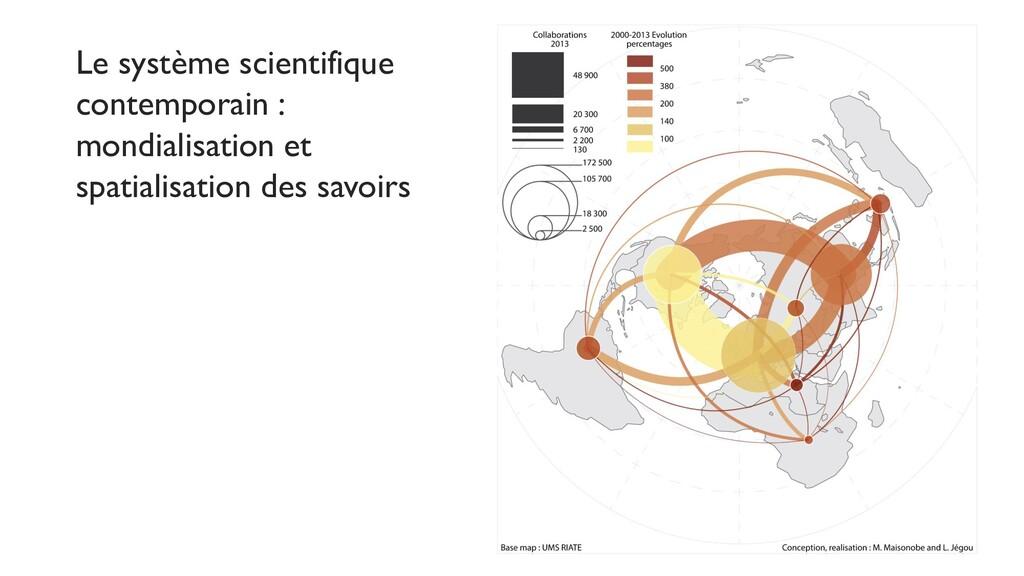 Le système scientifique contemporain : mondiali...