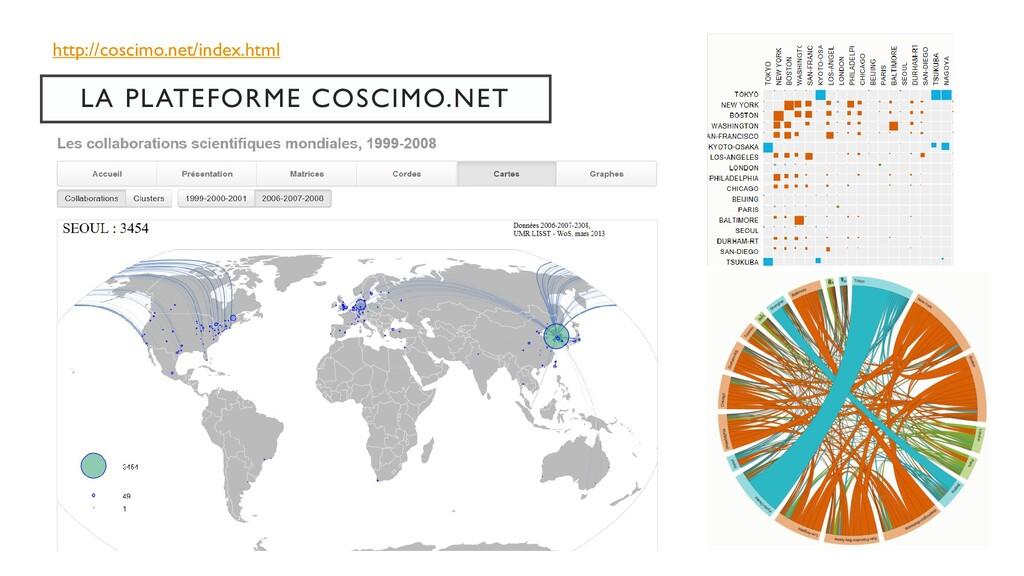 LA PLATEFORME COSCIMO.NET http://coscimo.net/in...
