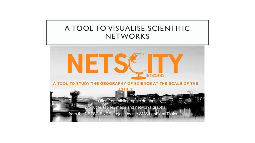 A TOOL TO VISUALISE SCIENTIFIC NETWORKS