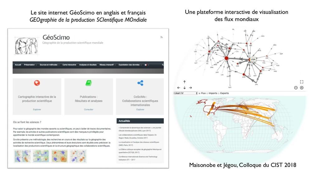 Maisonobe et Jégou, Colloque du CIST 2018 Une p...