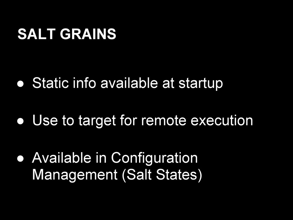 ● Static info available at startup ● Use to tar...