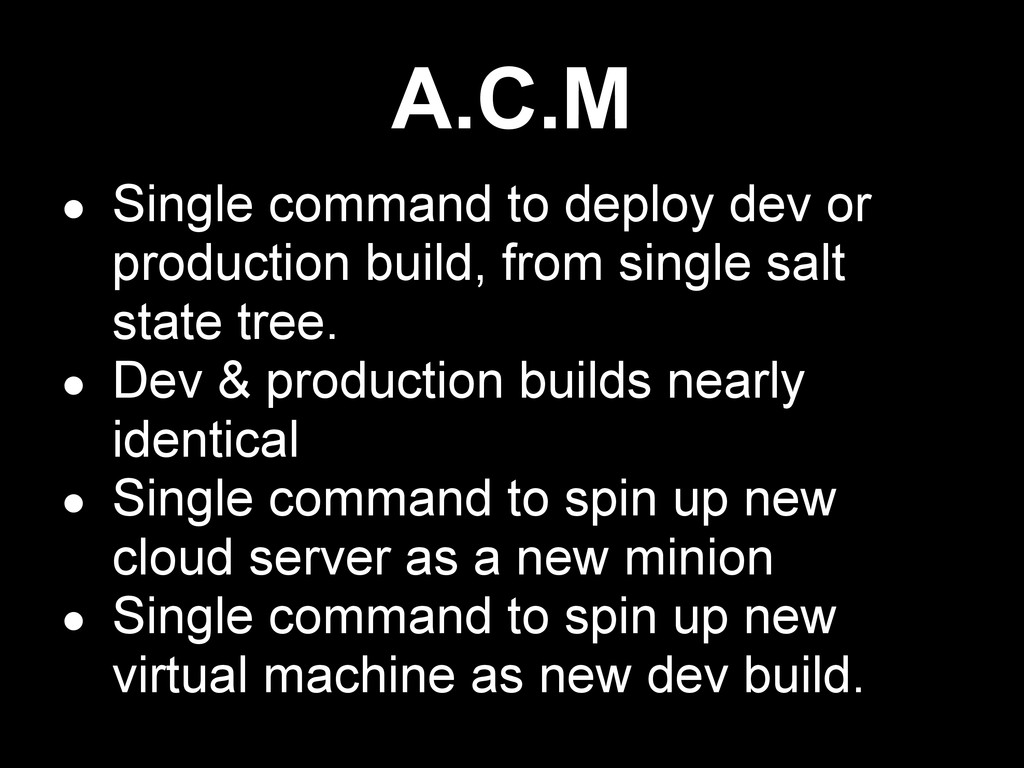 ● Single command to deploy dev or production bu...