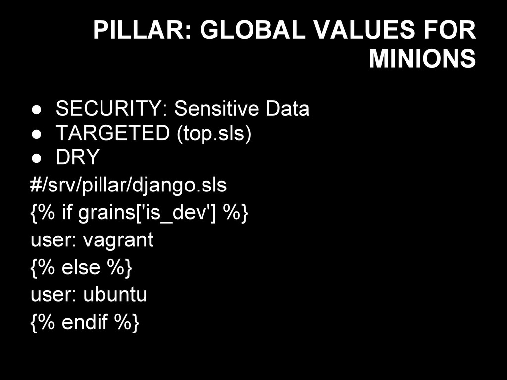 PILLAR: GLOBAL VALUES FOR MINIONS ● SECURITY: S...