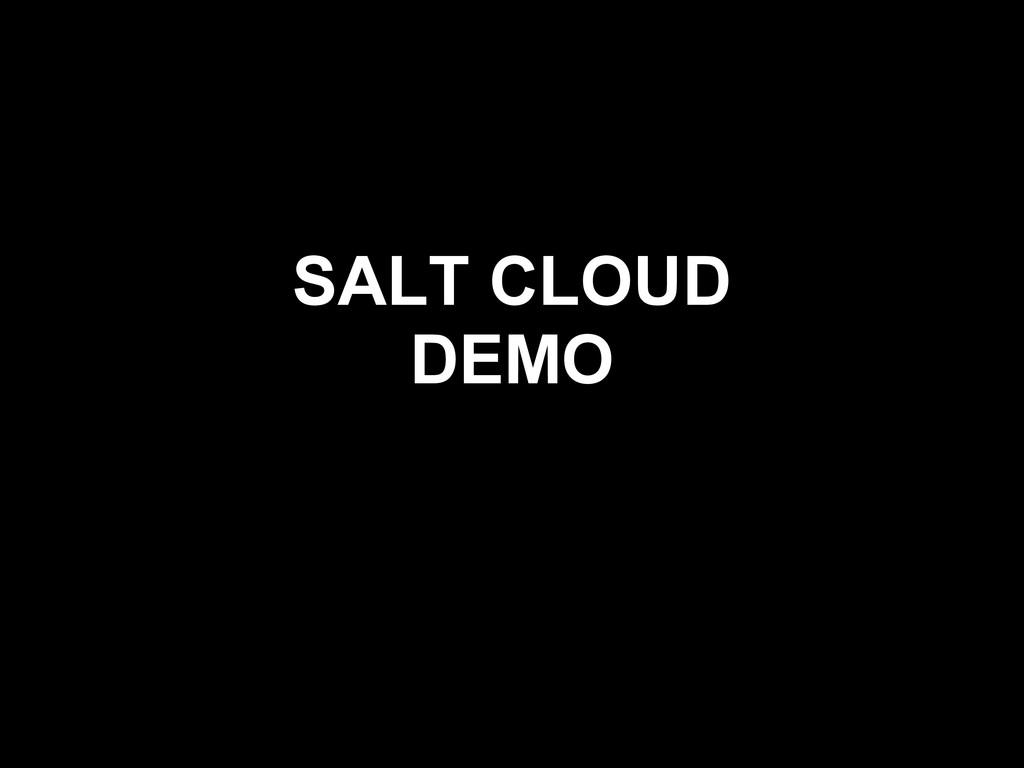 SALT CLOUD DEMO