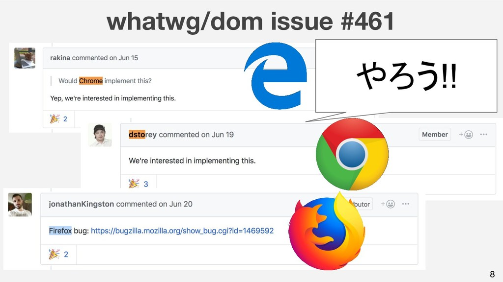 whatwg/dom issue #461 8 やろう!!