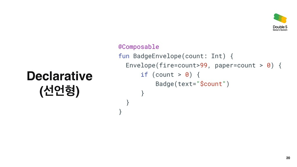 20 @Composable   fun BadgeEnvelope(count: Int) ...