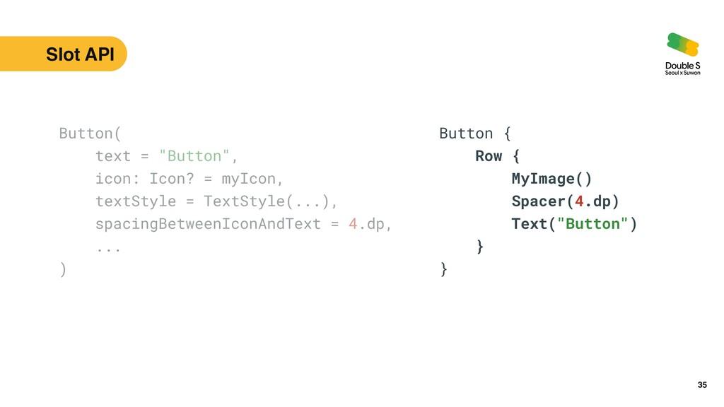 35 Button(   Row {   MyImage()   Spacer(4.dp)  ...