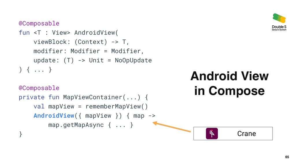 65 Android View    in Compose @Composable   fun...