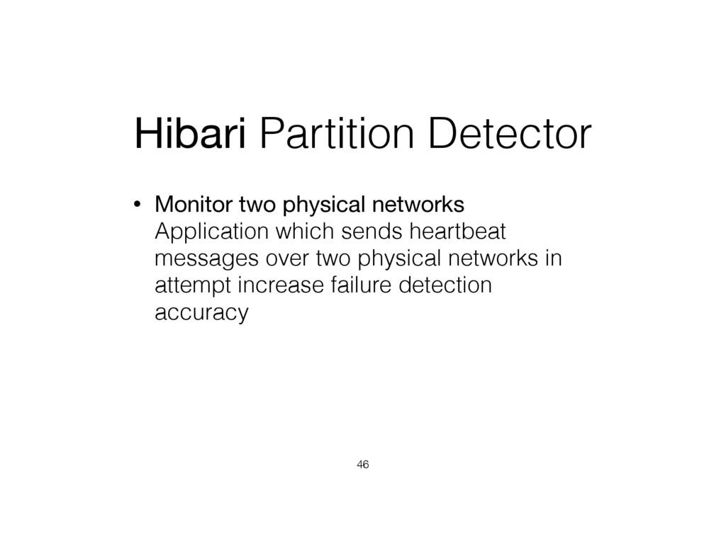Hibari Partition Detector • Monitor two physica...