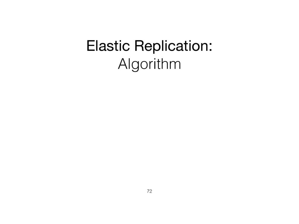 Elastic Replication: Algorithm 72
