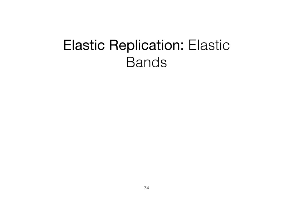 Elastic Replication: Elastic Bands 74